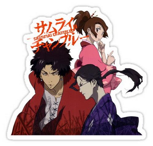 SRBB0443 samurai champloo mugen jin fuu anime manga Car Window Decal Stick anime