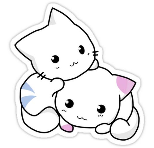 SRBB0984 Cute anime kittens Car Window Decal Sticker anime