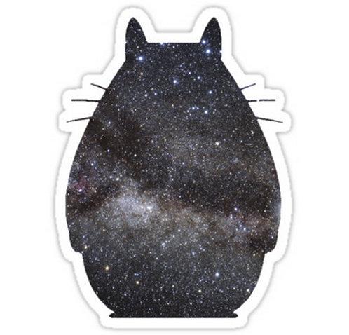 SRBB0150Space Totoro anime sticker