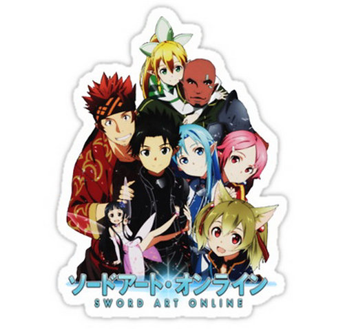 SRBB0113	sword art online  Anime sticker
