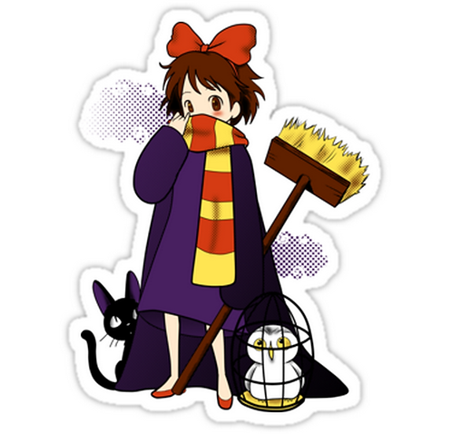 SRBB1755 Road to Hogwarts Car Window Decal Sticker anime