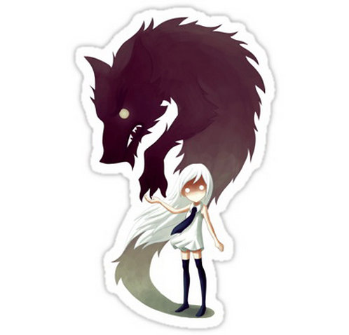 SRBB0143	Werewolf anime sticker