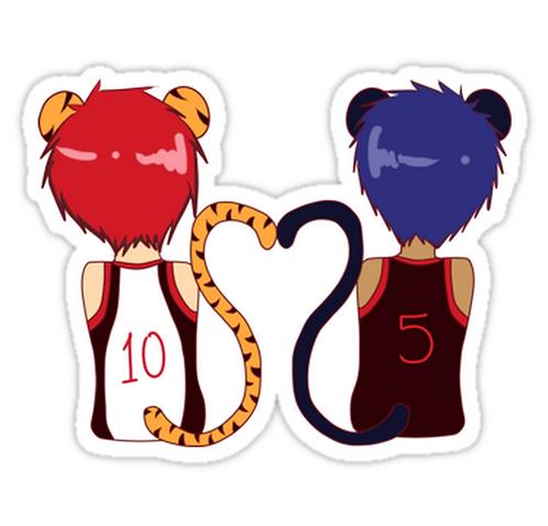 SRBB1333 Aomine and Kagami Cats Car Window Decal Sticker anime