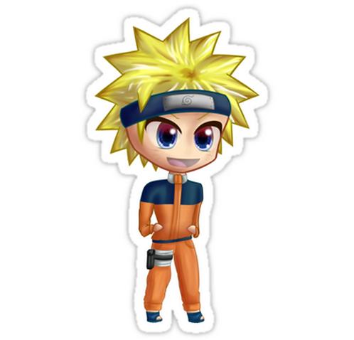 SRBB1197Chibi Naruto anime sticker