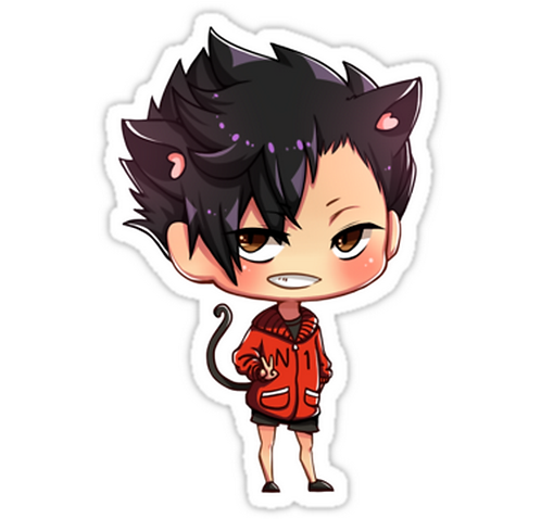 SRBB1061 Kuroo Tetsurou - Haikyuu! Car Window Decal Sticker anime