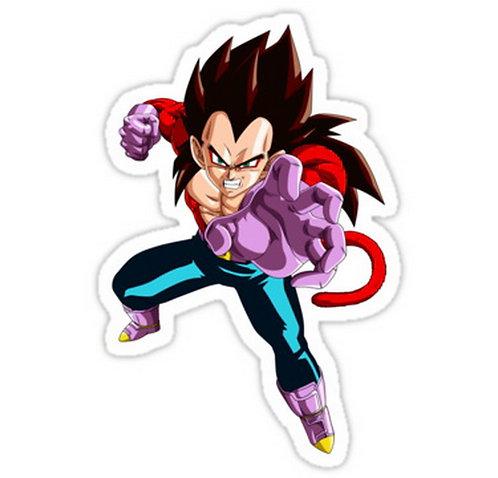 SRBB0037dragon ball z vegeta super saiyan 4 anime manga shirt sticker