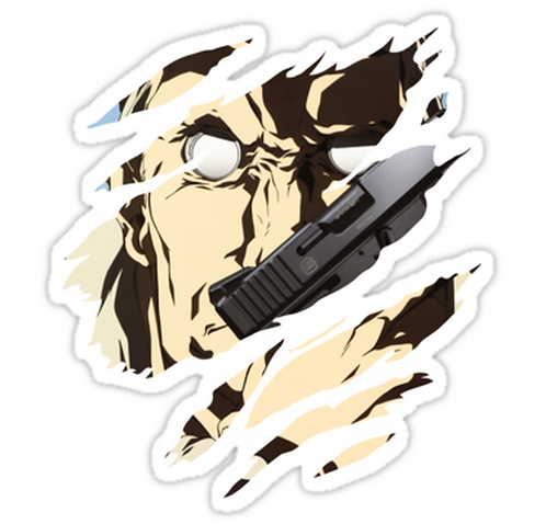 SRBB1040 ghost in the shell batou anime Car Window Decal Sticker