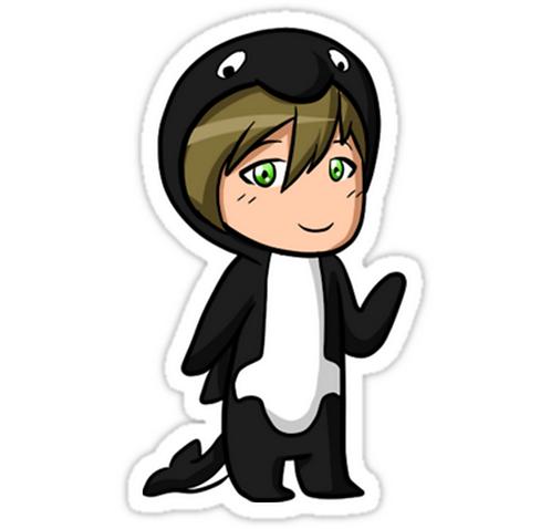 SRBB0885Makoto Whale Kigurumi (Iwatobi Swim Club) anime sticker