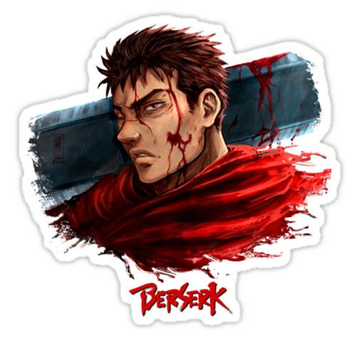SRBB1772 Berserk Car Window Decal Sticker anime