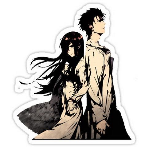 SRBB0445 Steins;Gate Kurisu and Okabe Anime Car Window Decal Sticker  anime