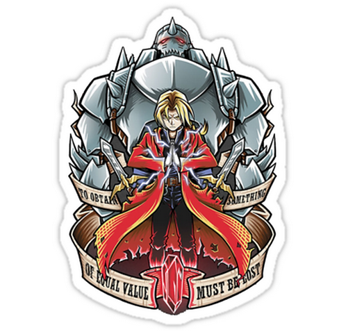 SRBB1644 Full Metal Alchemist Car Window Decal Sticker anime