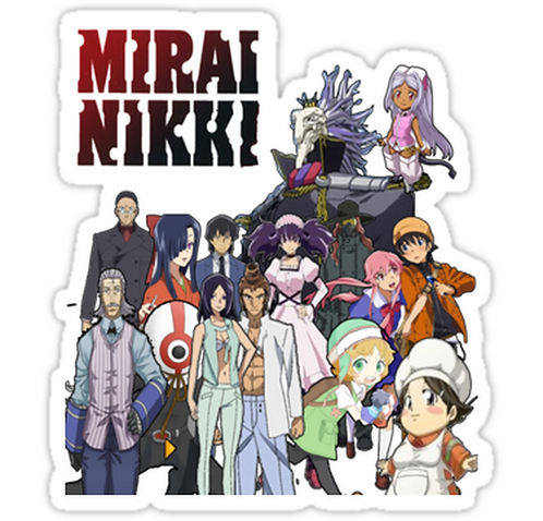 SRBB1615 Mirai Nikki Car Window Decal Sticker anime