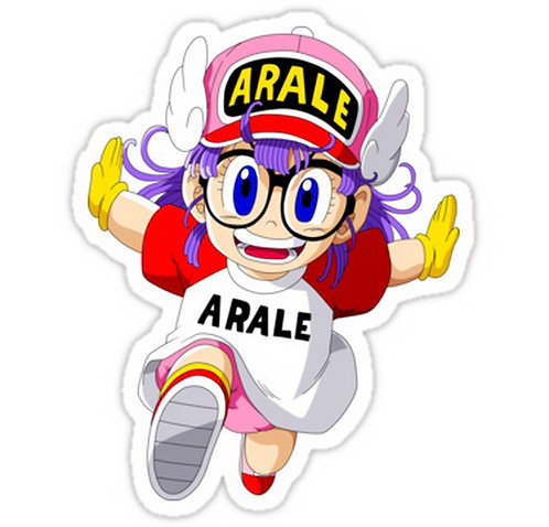 SRBB0424 Japanese Anime Manga Arale Norimaki Car Window Decal Sticker  anime