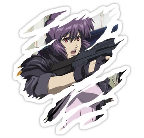 SRBB1037 ghost in the shell motoko kusanagi animeL Car Window Decal Sticker