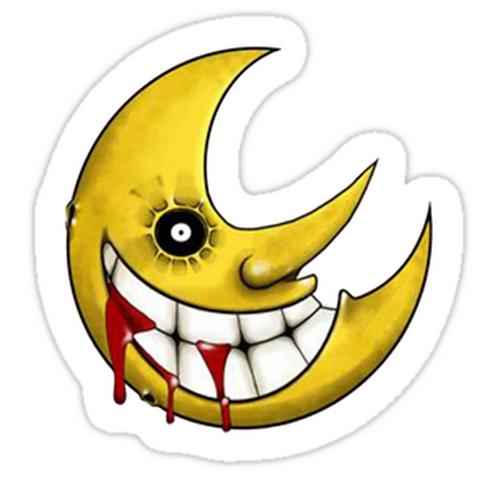 SRBB1632 Soul Eater Moon Car Window Decal Sticker anime