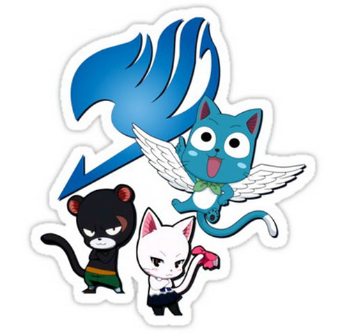 SRBB0313 Fairy Tail Cats Car Window Decal Sticker   anime