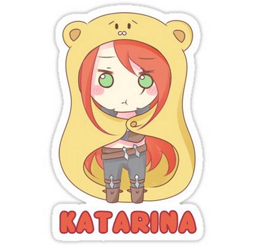 SRBB0236 Katarina chibi Car Window Decal Sticker anime