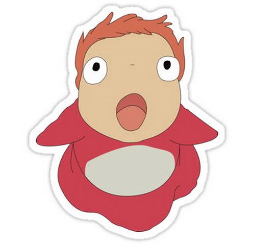 SRBB0057 Ponyo! Car Window Decal Sticker anime