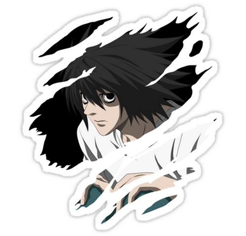 SRBB1543 death note L anime Car Window Decal Sticker