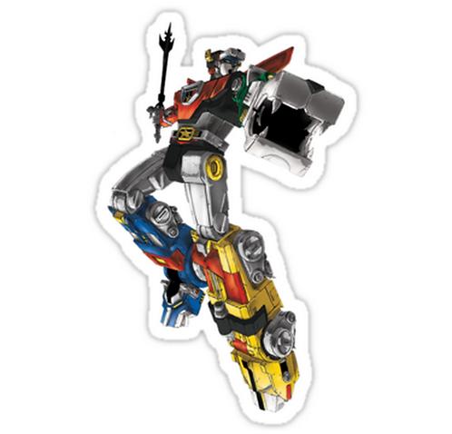 SRBB1045Voltron anime sticker