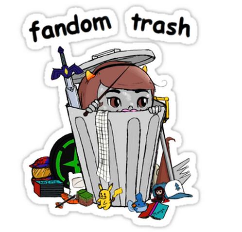 SRBB1720 Fandom Trash Logo Car Window Decal Sticker anime