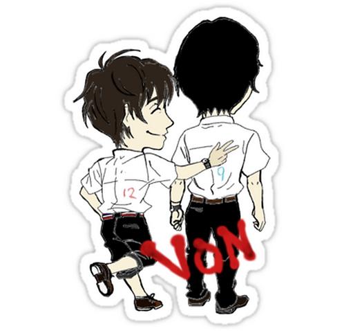 SRBB1427 Von Car Window Decal Sticker anime
