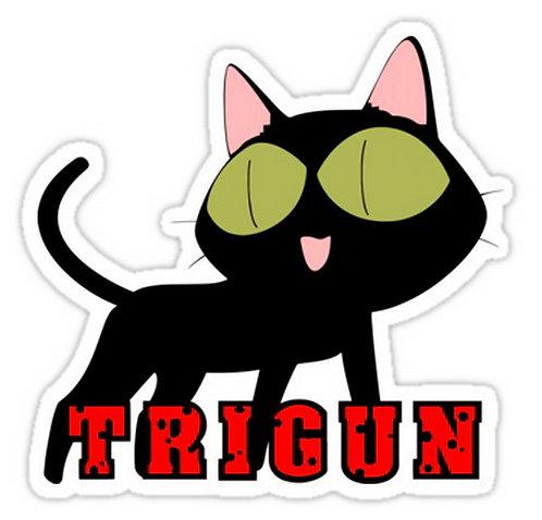 SRBB0392 trigun kuroneko cat anime manga shirtCar Window Decal Sticker  anime