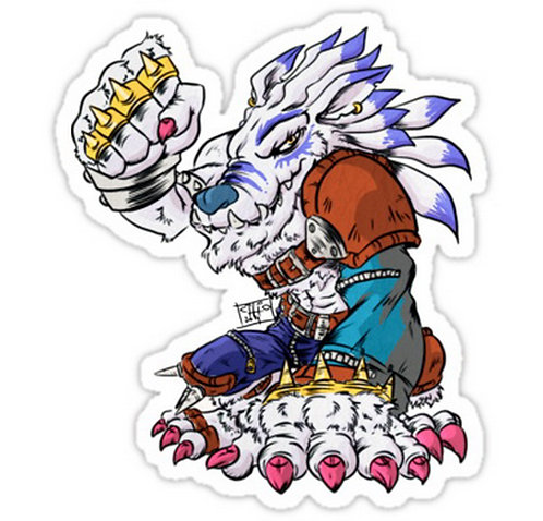 SRBB0238 Digimon - WEREGARURUMON Car Window Decal Sticker  anime