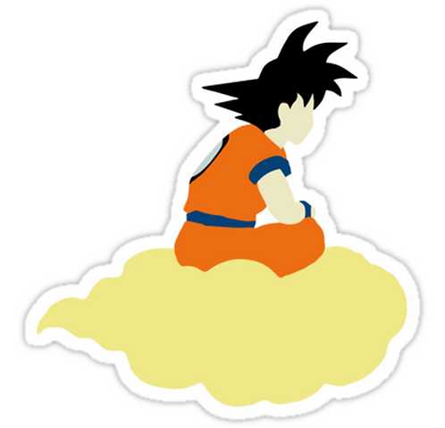 SRBB1622Minimalist Hero DRAGON BALL Z anime sticker