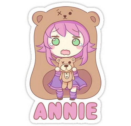 SRBB0276 Annie chibiCar Window Decal Sticker anime