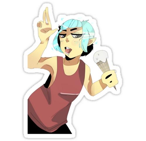 SRBB0816 icecream!toki Car Window Decal Sticker anime