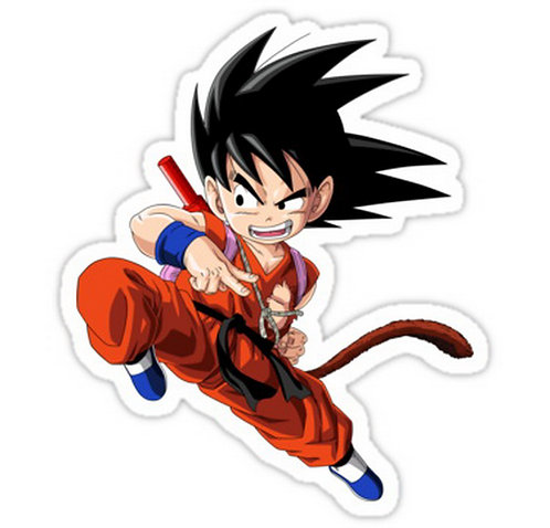 SRBB0144 goku kakarot anime manga shirt Car Window Decal Sticker DRAGON BALL Z