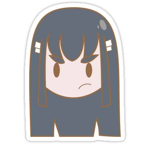SRBB1058 Satsuki Kiryuin Car Window Decal Sticker anime