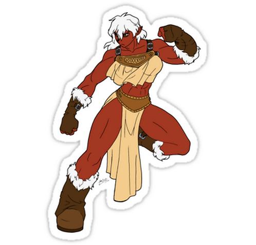 SRBB0784 Adina, The Juggernaut Car Window Decal Sticker  anime