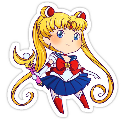 SRBB1493 Sailor Moon Car Window Decal Sticker anime