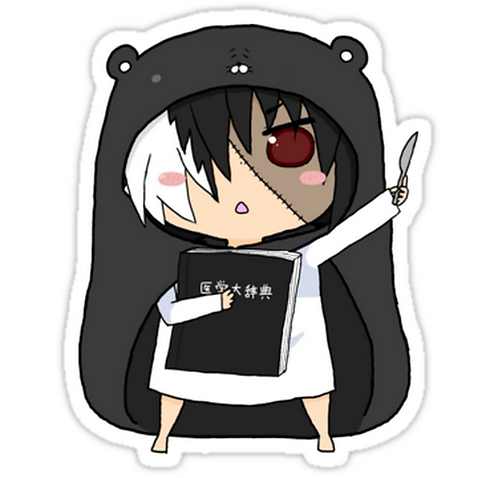 SRBB1178 Black Jack Car Window Decal Sticker anime