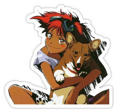 SRBB0111 Edward and Ein Cowboy Bebop Car Window Decal Sticker anime