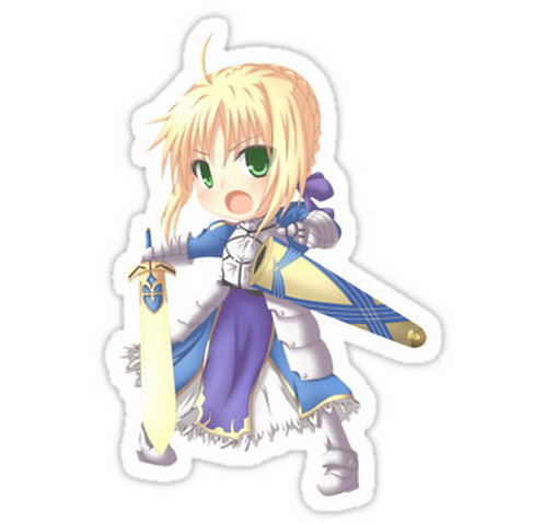 SRBB0131 Saber Car Window Decal Sticker anime