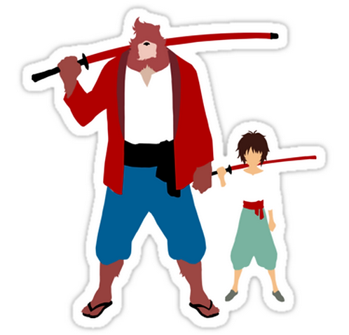 SRBB0943	The boy and the beast - Father and son anime sticker
