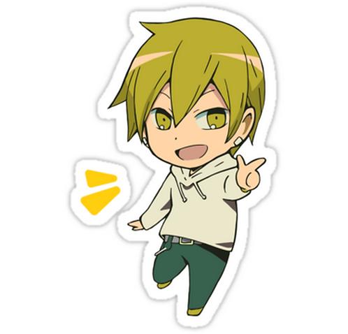 SRBB1242Masaomi Kida, chibi, from Durarara anime sticker