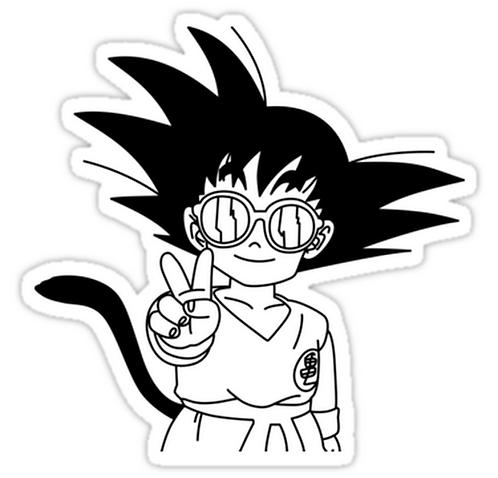 SRBB0896Kid Goku DRAGON BALL Z anime sticker