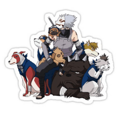 SRBB0401KAKASHI AND THE GANG anime sticker