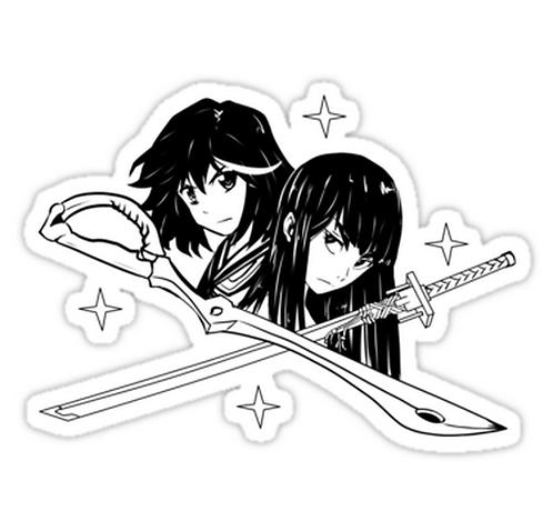 SRBB0905 Kill la Kill blacke Car Window Decal Sticker anime