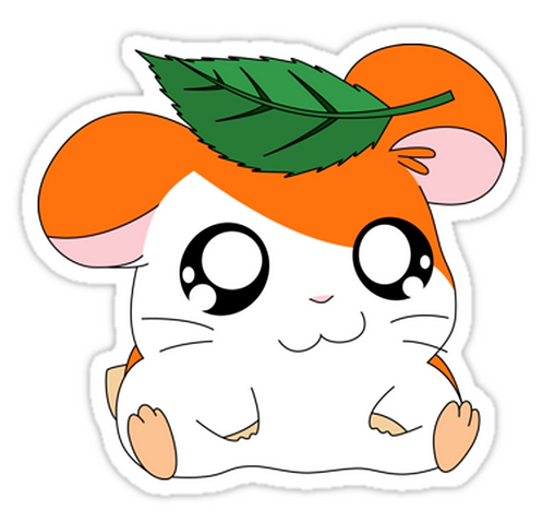 SRBB1520 Hamtaro with Leaf Car Window Decal Sticker anime