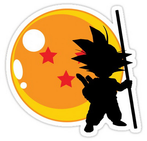 SRBB0228Son Goku - Dragon Ball z  Anime  sticker