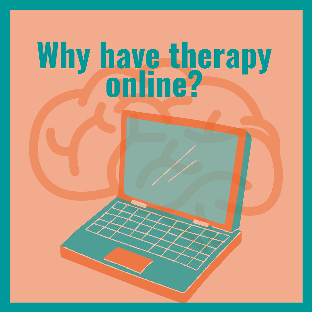 Why have therapy online? Laptop image - Web Therapy with Eleanor Carn