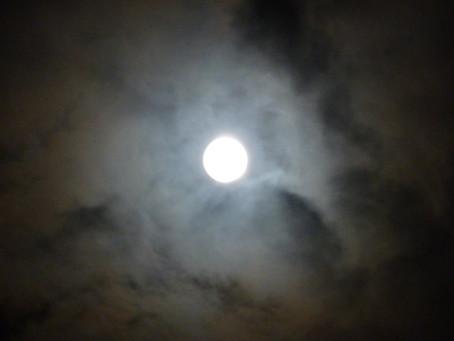 Full Moon in Morning