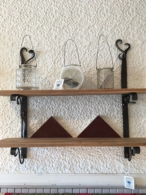 Hand forged shelves