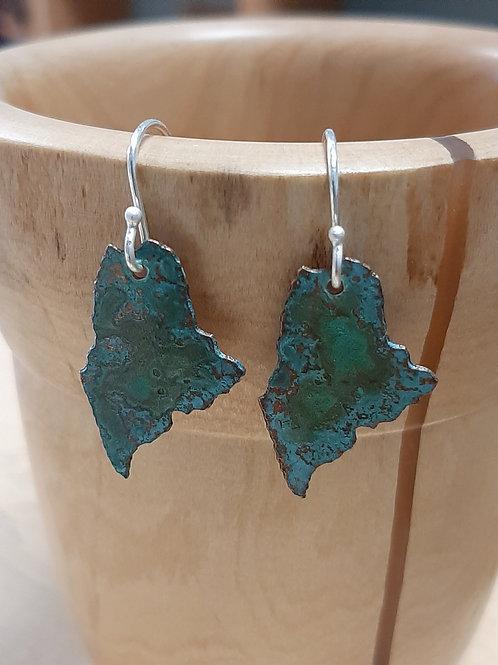 Maine copper earrings