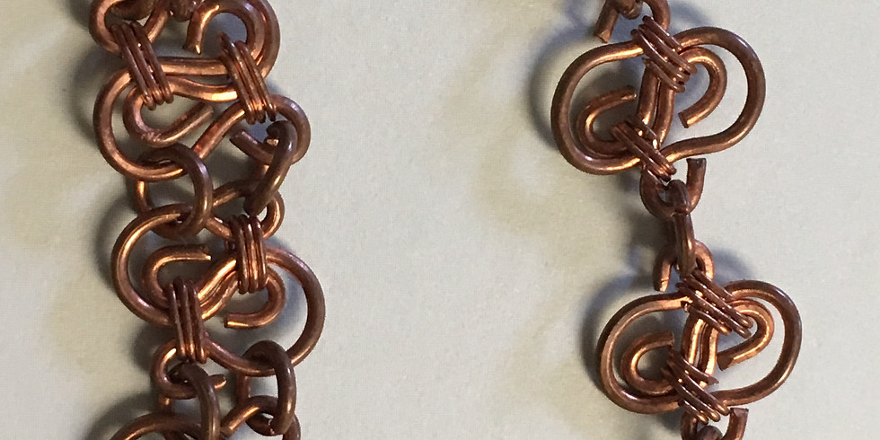 Component bracelet and earrings